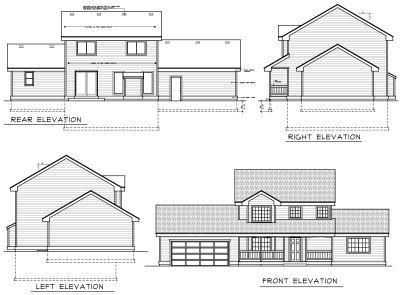 Rear Elevation Plan: 1-325