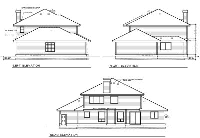 Rear Elevation Plan: 1-326