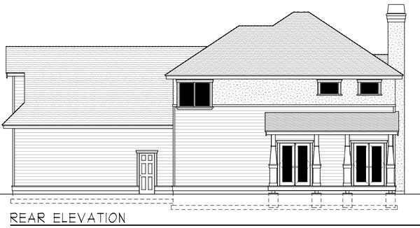 Rear Elevation Plan: 1-327
