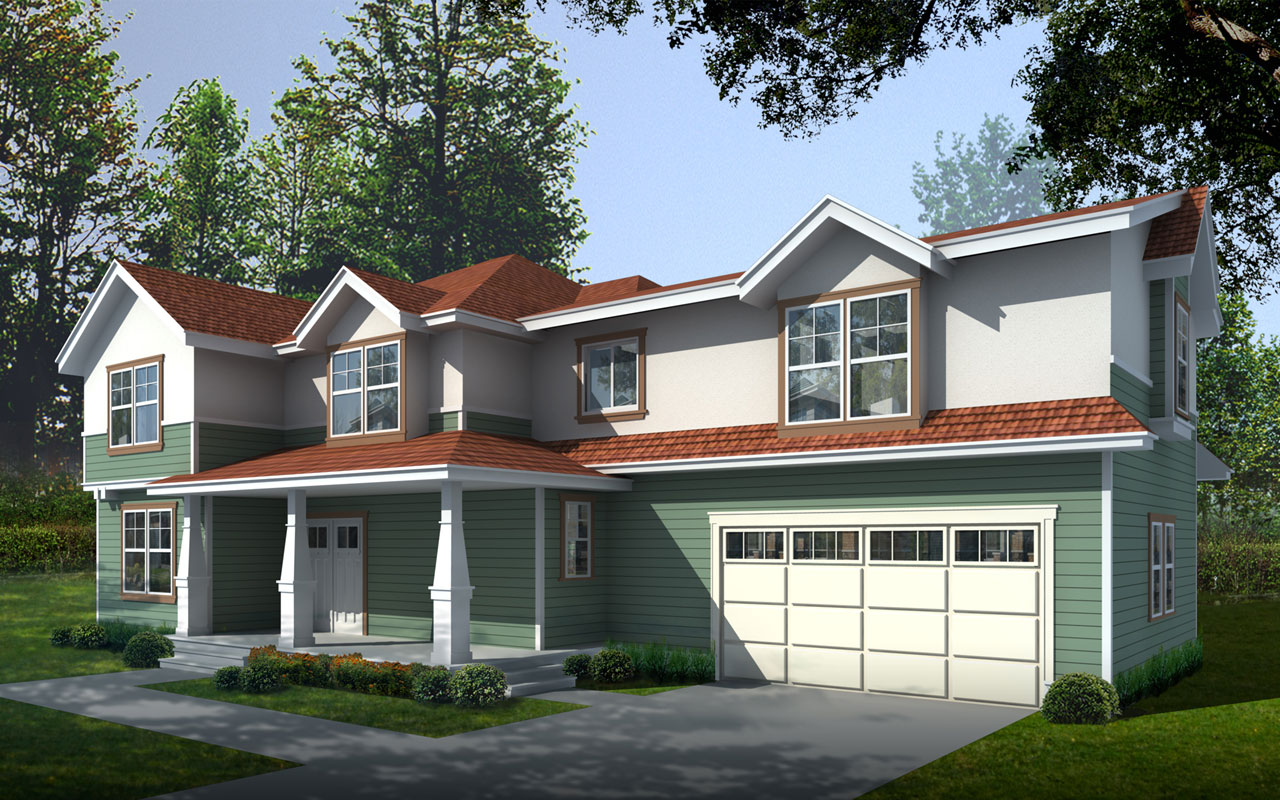 Bungalow Style Home Design 1-328