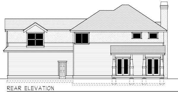 Rear Elevation Plan: 1-328