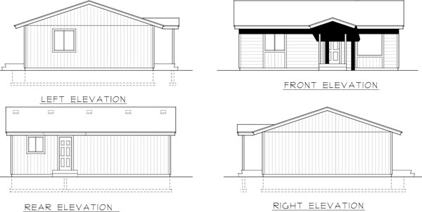 Rear Elevation Plan: 1-329