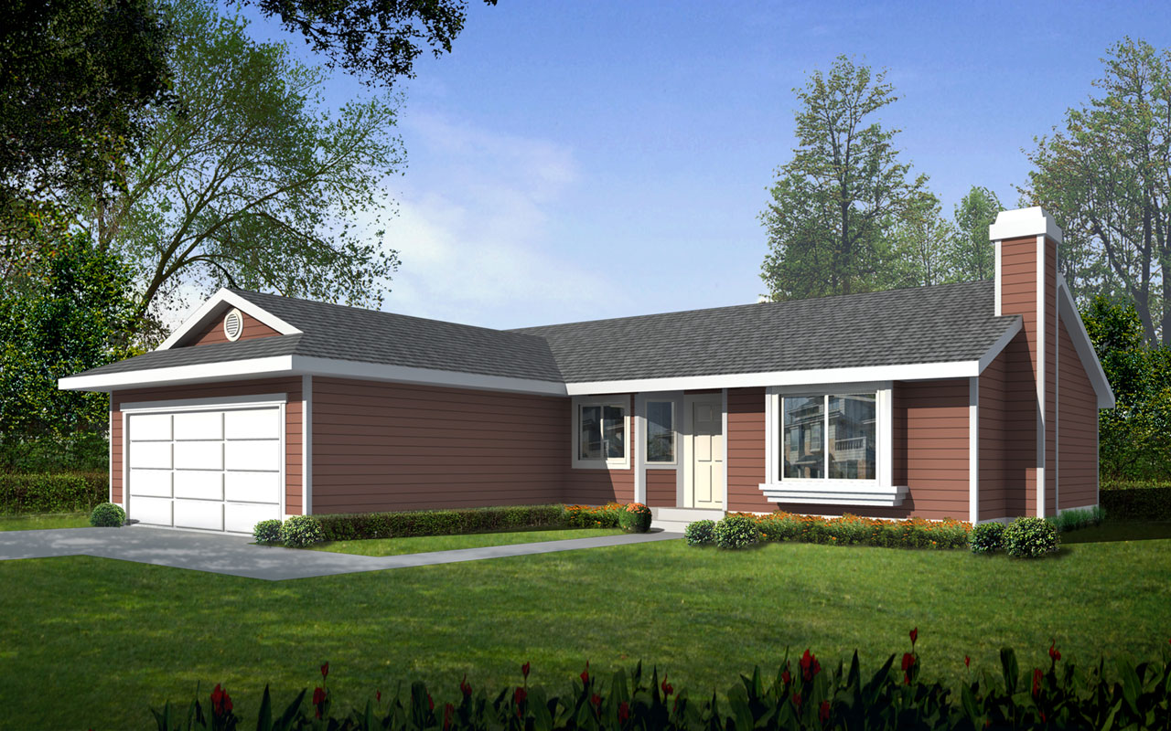 Ranch Style House Plans Plan: 1-331