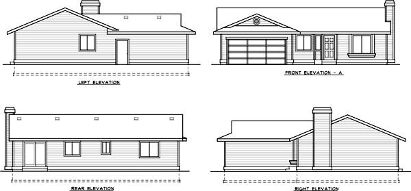 Rear Elevation Plan: 1-331