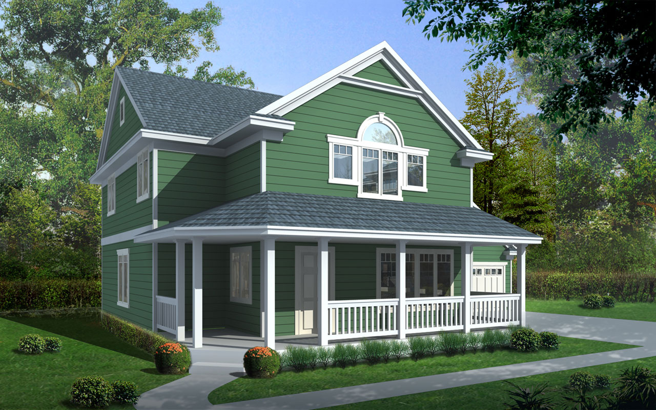 Bungalow Style House Plans 1-333