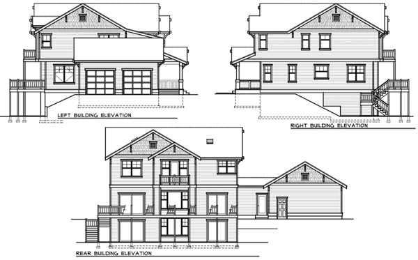 Rear Elevation Plan: 1-334