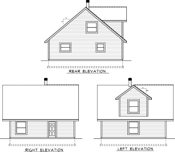 Rear Elevation Plan: 1-337