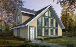 Contemporary Style House Plans 1-337