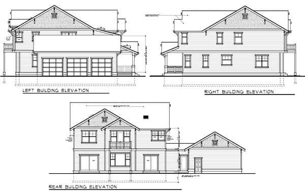 Rear Elevation Plan: 1-340