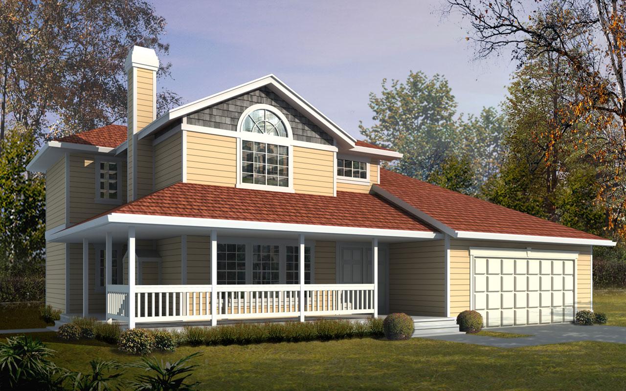 Craftsman Style Home Design Plan: 1-341