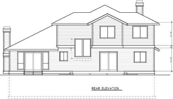 Rear Elevation Plan: 1-341