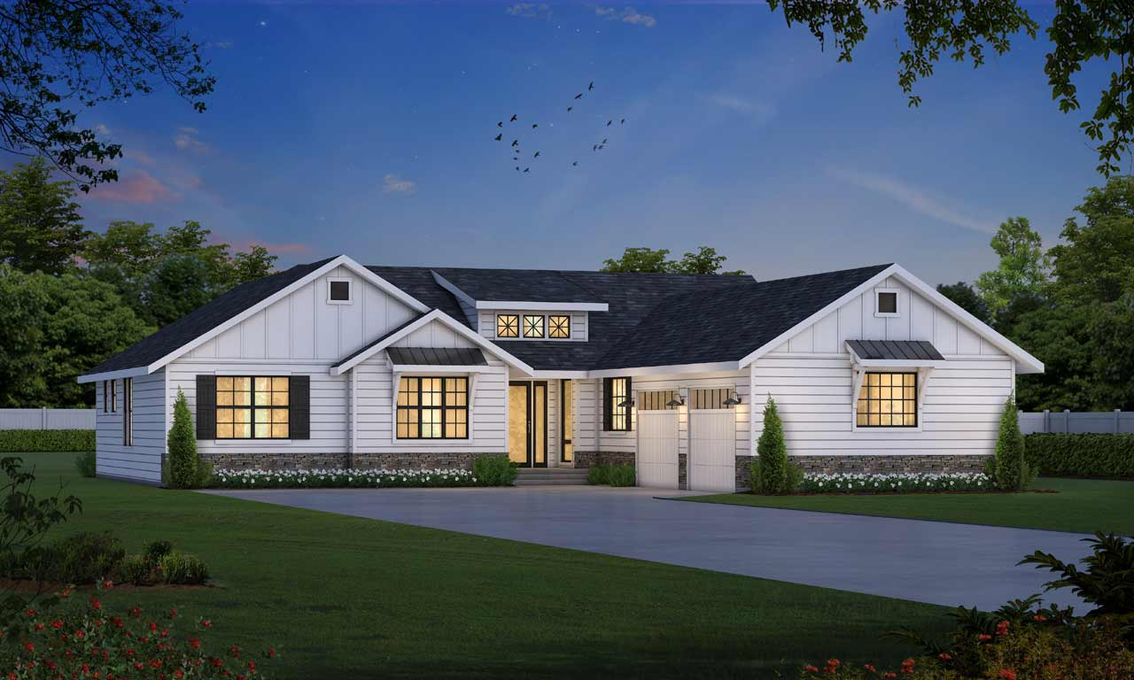 Modern-farmhouse Style Floor Plans Plan: 1-342