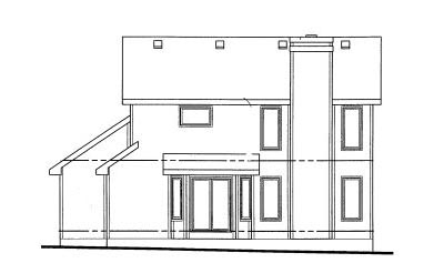 Rear Elevation Plan: 10-1002