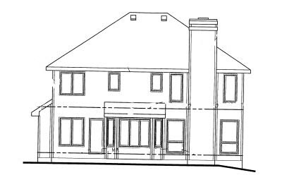 Rear Elevation Plan: 10-1004