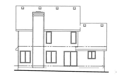 Rear Elevation Plan: 10-1005