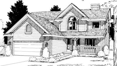 Traditional Style House Plans Plan: 10-1006