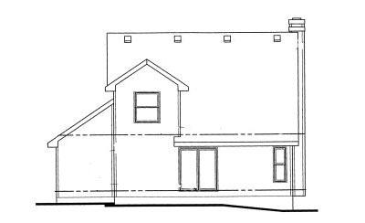 Rear Elevation Plan: 10-1007