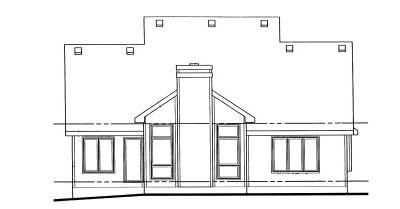 Rear Elevation Plan: 10-1008
