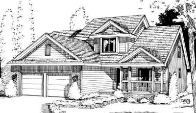 Traditional Style Home Design Plan: 10-1010