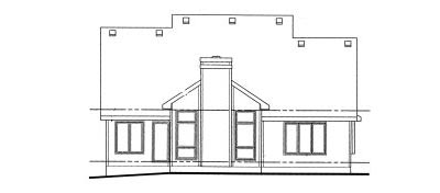 Rear Elevation Plan: 10-1010