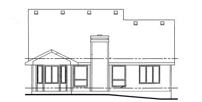 Rear Elevation Plan: 10-1011