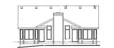 Rear Elevation Plan: 10-1012
