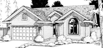Traditional Style Home Design Plan: 10-1013