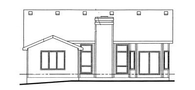 Rear Elevation Plan: 10-1013