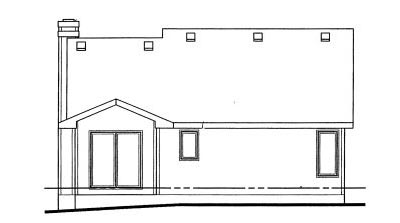 Rear Elevation Plan: 10-1015