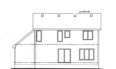 Rear Elevation Plan: 10-1016