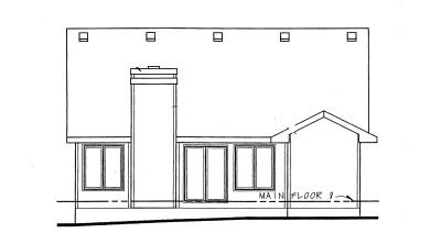 Rear Elevation Plan: 10-1018