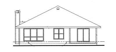 Rear Elevation Plan: 10-1022