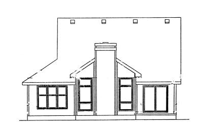 Rear Elevation Plan: 10-1025