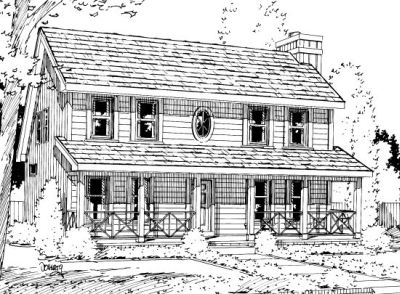 Country Style Floor Plans Plan: 10-1026