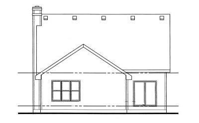 Rear Elevation Plan: 10-1026