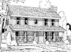 Country Style House Plans Plan: 10-1026