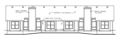 Rear Elevation Plan: 10-1028