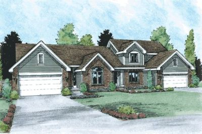 Traditional Style Home Design Plan: 10-1029