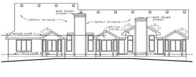 Rear Elevations Plan:10-1029