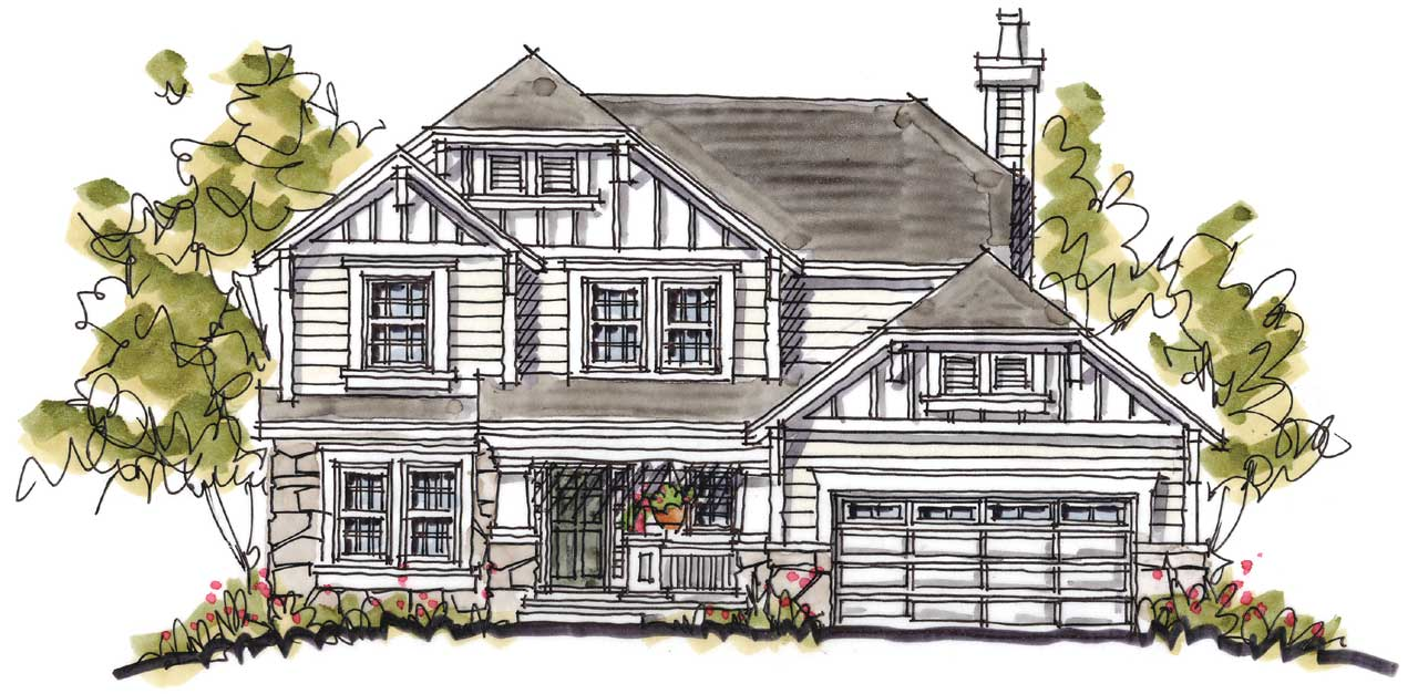 Craftsman Style Home Design 10-1030