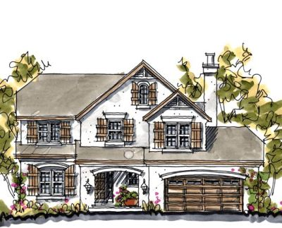 European Style Home Design Plan: 10-1031