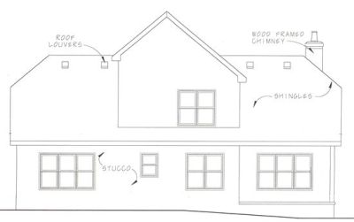 Rear Elevation Plan: 10-1034