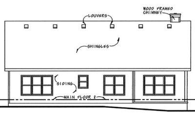Rear Elevation Plan: 10-1035