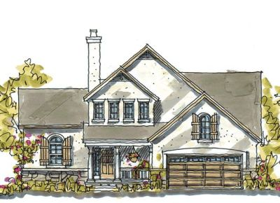 French-country Style Floor Plans Plan: 10-1038