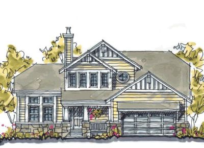 Craftsman Style Home Design 10-1039