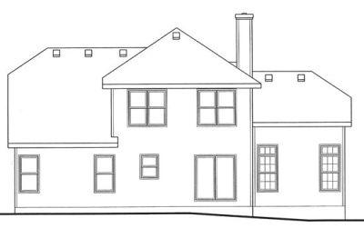 Rear Elevation Plan: 10-1039
