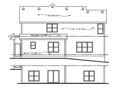 Rear Elevation Plan: 10-1040
