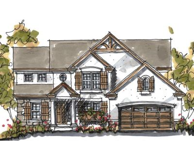 European Style Home Design Plan: 10-1041