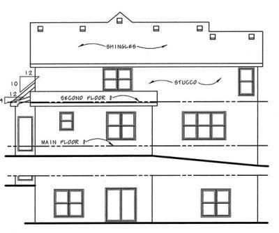 Rear Elevation Plan: 10-1041