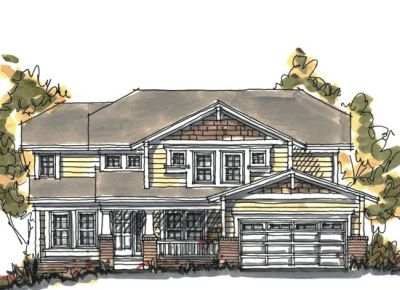 Craftsman Style Home Design Plan: 10-1042